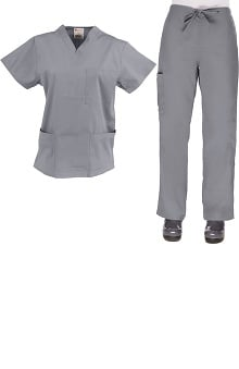 Clearance Allstar Uniforms Womens V-Neck & Cargo Scrub Set