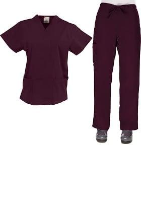 Clearance Allstar Uniforms Womens V-Neck & Cargo Scrub Set