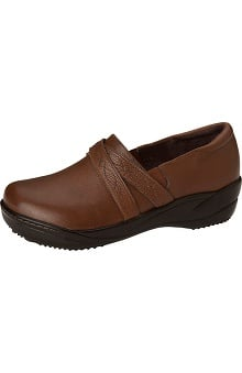 ANYWEAR Women's Leather Slip-On Clog