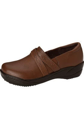 Clearance ANYWEAR Women's Leather Slip-On Clog