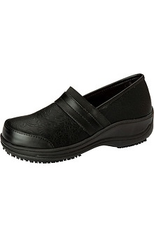 ANYWEAR Women's Embossed Leather Clog