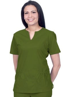 catplus: Scrub Works Women's Chelsea Baby Doll Solid Top