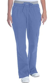 petite: Scrub Works Women's Soho Boot Cut Knit Waist Pant
