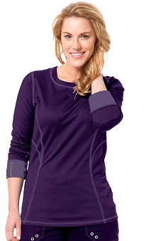 Clearance Antidote Women's Scoop Neck Solid Long Sleeve Underscrub