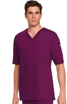 Grey's Anatomy™ Men's 3-Pocket V-Neck Solid Scrub Top