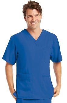 KD110 Men's Justin V-Neck Solid Scrub Top