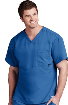 Active by Grey's Anatomy™ Men's Paneled V-Neck Solid Scrub Top