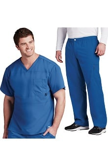 Active by Grey's Anatomy™ Men's Panel V-Neck Top & Zip Fly Pant Scrub Set