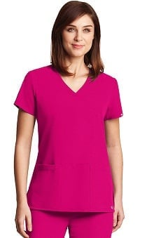 Clearance Signature by Grey's Anatomy™ Women's V-Neck Solid Scrub Top