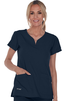 Signature by Grey's Anatomy™ Women's Notch Neck Top