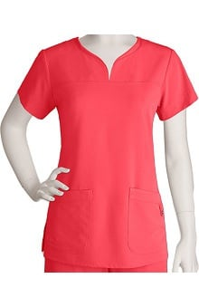 Clearance Signature by Grey's Anatomy™ Women's Notch Neck Solid Scrub Top