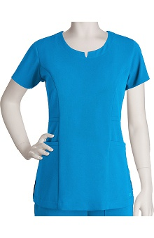 Clearance Signature by Grey's Anatomy™ Women's 2 Pocket Rounded Notch Neck Top
