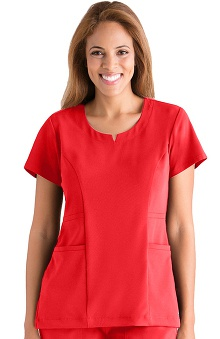 Clearance Signature Series by Grey's Anatomy™ Women's 2 Pocket Rounded Notch Neck Top