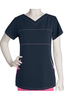 Clearance Signature by Grey's Anatomy™ Women's Contrast 2 Pocket Soft V-Neck Scrub Top