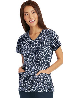 Signature by Grey's Anatomy™ Women's V-Neck Dot Print Scrub Top