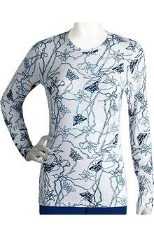 Clearance Signature by Grey's Anatomy™ Women's Long Sleeve Soleil Indigo Print T-Shirt