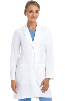 Signature by Grey's Anatomy™ Women's Junior 3 Pocket Stretch 35'' Lab Coat
