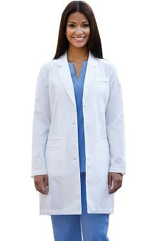 Lab Coats by Barco Uniforms Women's 4-Pocket Smart Pocket Lab Coat