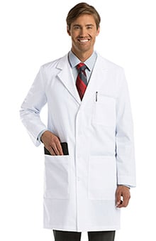 "Lab Coats by Barco Uniforms Unisex 5-Pocket 38"" Lab Coat"