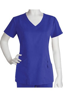 Clearance NRG by Barco Uniforms Women's V-Neck Shaped Solid Scrub Top