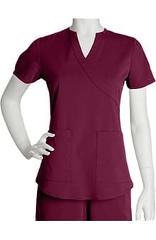cna uniforms: NrG By Barco Women's Mock Wrap Solid Scrub Top By Barco Uniforms
