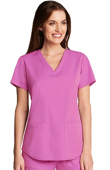 NRG by Barco Uniforms Women's Squared V-Neck Scrub Top