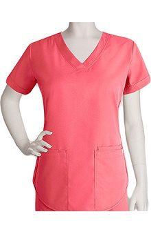 Clearance Nrg by Barco Uniforms Women's Squared V-Neck Scrub Top
