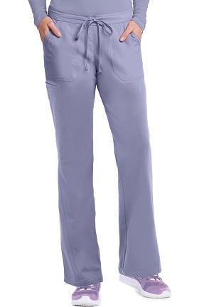 NRG by Barco Uniforms Women's Half-Elastic, Half-Drawstring Waist Scrub Pant