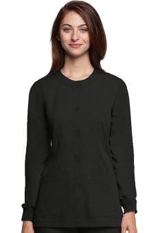 cna uniforms: NrG Women's Warm Up Solid Scrub Jacket By Barco Uniforms