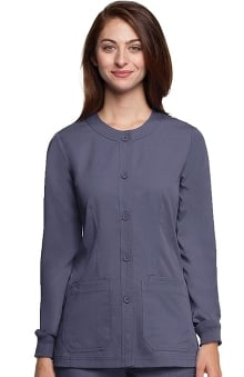 dental : NrG by Barco Uniforms Women's Junior Warm Up Solid Scrub Jacket