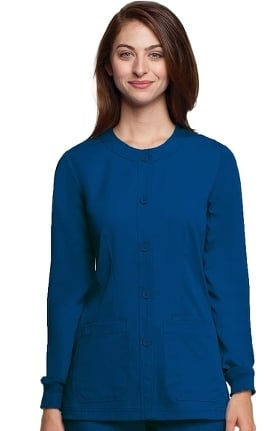 Clearance NRG by Barco Uniforms Women's Warm Up Solid Scrub Jacket