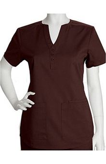 Clearance ICU by Barco Uniforms Women's Junior Y-Neckline Solid Scrub Top