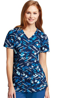 Grey's Anatomy™ Women's V-Neck Arrow Print Scrub Top