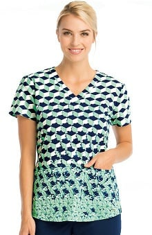 Clearance Grey's Anatomy™ Women's V-Neck Abstract Print Scrub Top