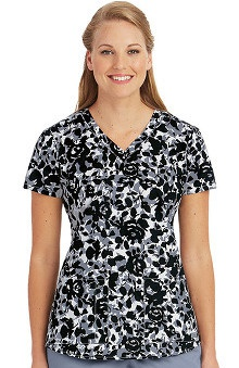 Clearance Grey's Anatomy™ Women's V-Neck Floral Print Scrub Top