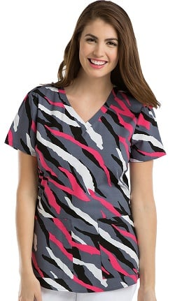 Clearance Grey's Anatomy™ Women's V-Neck Animal Print Scrub Top
