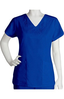 Clearance Grey's Anatomy™ Women's Laser Cut V-Neck Scrub Top