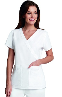 Clearance Prima by Barco Uniforms Women's Mock Wrap V-Neck Scrub Top