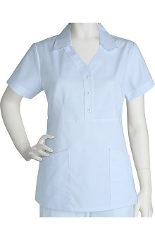 Clearance Prima by Barco Uniforms Women's 3 Pocket Button Front Scrub Top