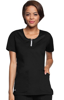 Clearance Active by Grey's Anatomy™ Women's Round Neck Mesh Scrub Top