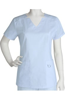 Clearance Prima by Barco Uniforms Women's 3 Pocket Notched V-Neck Scrub Top