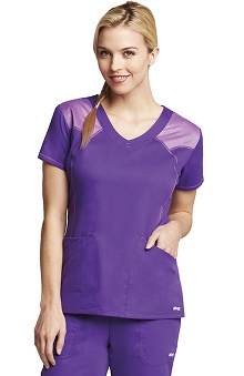 Active by Grey's Anatomy™ Women's 2 Pocket V-Neck Mesh Scrub Top