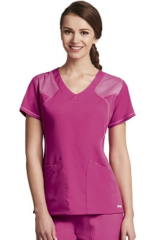 Clearance Active by Grey's Anatomy™ Women's 2 Pocket V-Neck Mesh Scrub Top