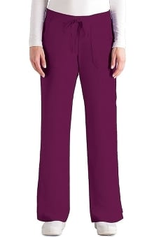 LGT: Grey's Anatomy Women's 4-Pocket Elastic Back Solid Scrub Pants