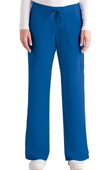 Grey's Anatomy™ Women's 4-Pocket Elastic Back Solid Scrub Pant