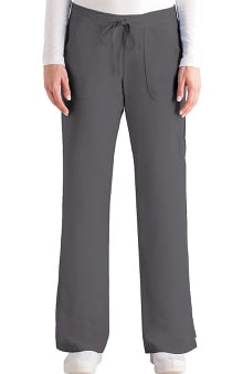 Grey's Anatomy™ Women's Junior 4-Pocket Elastic Back Solid Scrub Pant