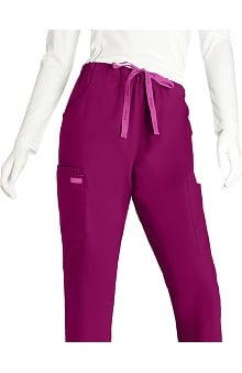petite: Grey's Anatomy Women's 5 Pocket Straight Leg Scrub Pant