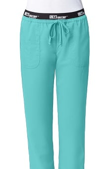 Petite new: Active by Grey's Anatomy Women's Straight Leg Drawstring Scrub Pant
