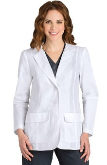 Lab Coats by Barco Uniforms Women's Junior 2-Button Flap-Pocket Lab Coat