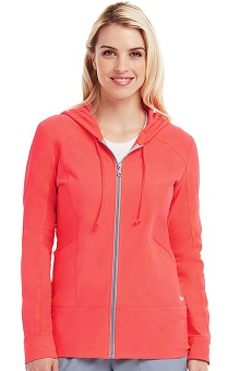 Active by Grey's Anatomy™ Women's Zip-Up Hoodie Solid Scrub Jacket